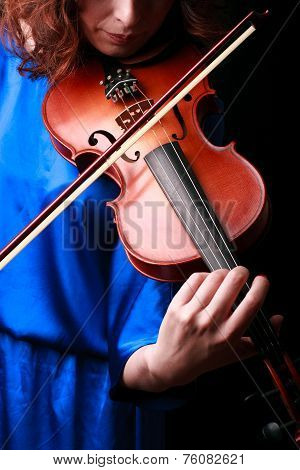 Music Portrait Of Young Woman.