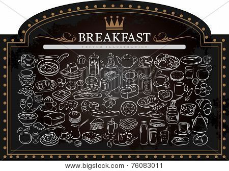 Breakfast On Blackboard