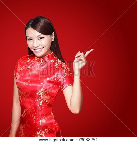 Happy Chinese New Year with red cloth