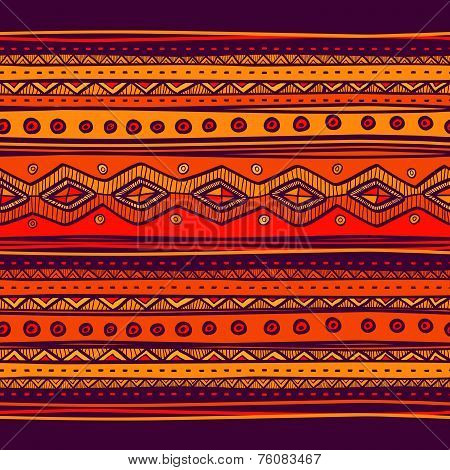 Abstract Hand-drawn Ethno Pattern, Tribal Background. Pattern Ca