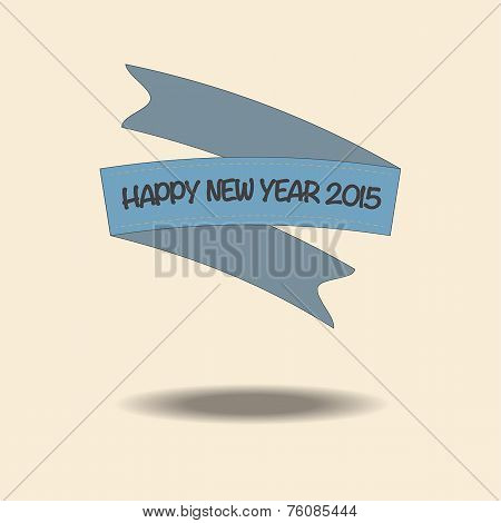 Vintage Ribbon And Happy New Year 2015, Esp10.