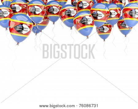Balloon Frame With Flag Of Swaziland