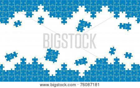 Puzzle Background Blue And Endless