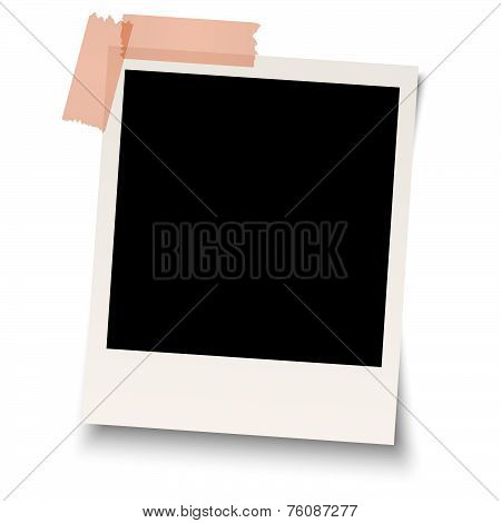 Blank old photo With Adhesive Tape