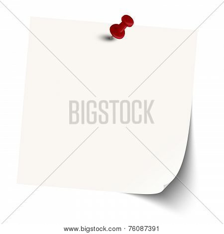 Memo / Note With Pin Needle