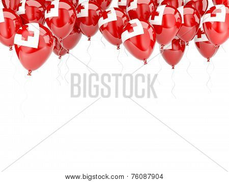 Balloon Frame With Flag Of Tonga
