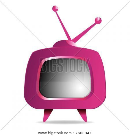 Purple retro tv