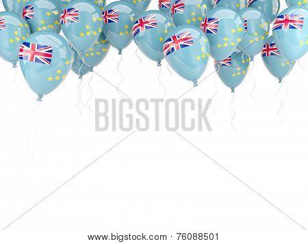 Balloon Frame With Flag Of Tuvalu