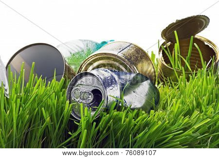 Garbage From Aluminum And Tin Cans