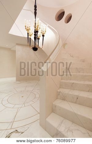 Interior entrance modern house