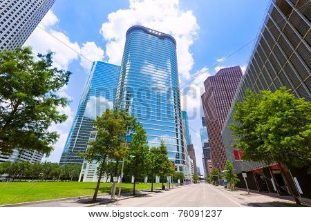 Houston skyline cityscape in Texas US USA