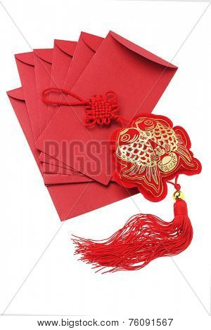 Chinese New Year Red Packets and Auspicious Fish Ornament