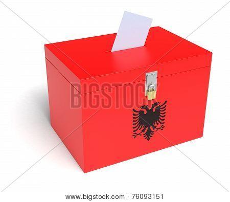 Albania Flag Ballot Box