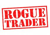 picture of rogue  - ROGUE TRADER red Rubber Stamp over a white background - JPG