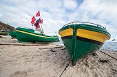 pic of polonia  - Fishing boats on Baltic Sea beach in Karlikowo District in Sopot Poland  - JPG