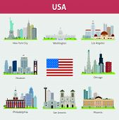 pic of washington skyline  - Famous Places and architecture major US cities - JPG
