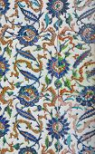 pic of harem  - Tiled mosaic wall in the Harem in Istanbul Turkey - JPG