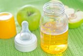 stock photo of juices  - apple juice for baby - JPG