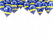 pic of curacao  - Balloon frame with flag of curacao isolated on white - JPG