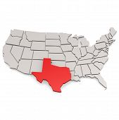 foto of texas map  - Texas map image with hi - JPG