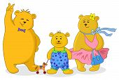 picture of teddy  - Family of toy teddy bears - JPG