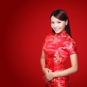 image of traditional attire  - happy Chinese new year - JPG