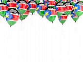 image of sudan  - Balloon frame with flag of south sudan isolated on white - JPG