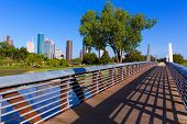 picture of memorial  - Houston skyline from Memorial park at Texas USA US - JPG
