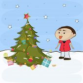 stock photo of merry chrismas  - Merry Christmas celebration concept with decorative X - JPG