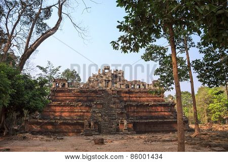 One Of Ancient Temples In Sacred City Angkor