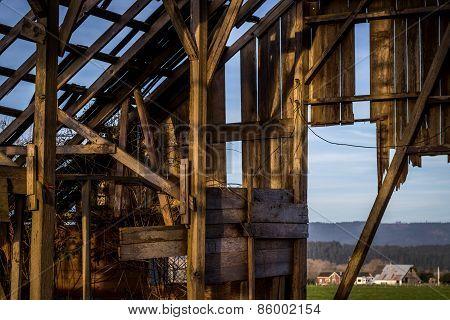 Abandoned Barn, Interior