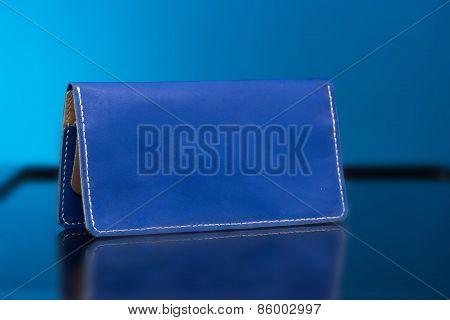 Blue woman clutch bag