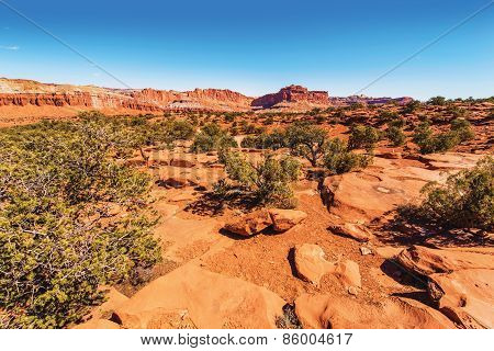 Capitol Reef Rocky Landscape