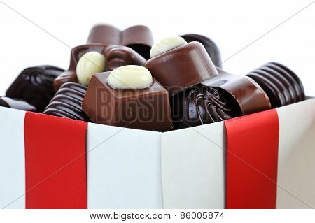 Different Chocolate In Box