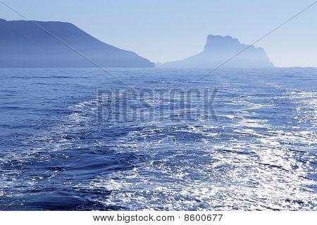 Calpe Ifach Peñon view from Mediterranean