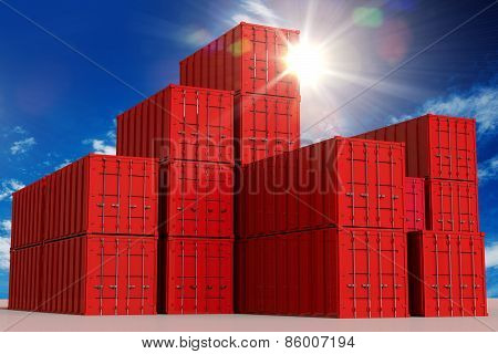 Red Cargo Containers