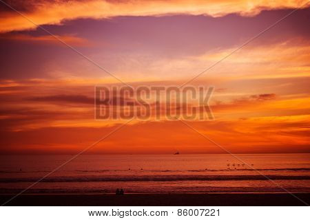 Reddish Beach Sunset