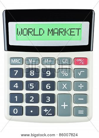Calculator With World Market