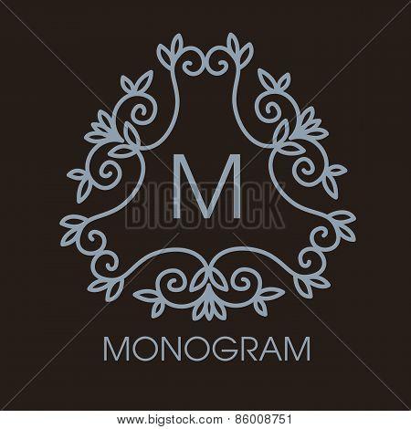 Luxury, simple  and elegant monochrome  Vector  abstract monogra