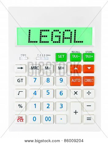 Calculator With Legal