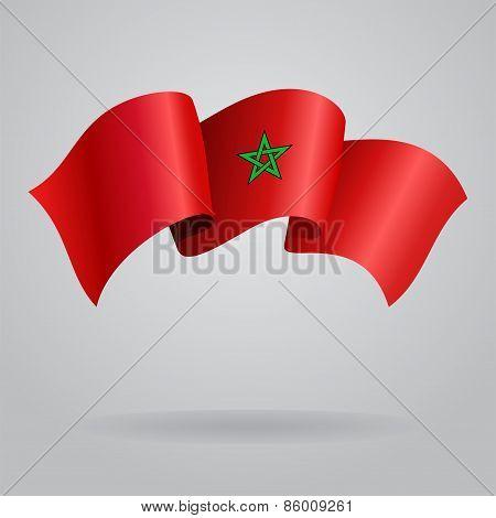 Moroccan waving Flag. Vector illustration