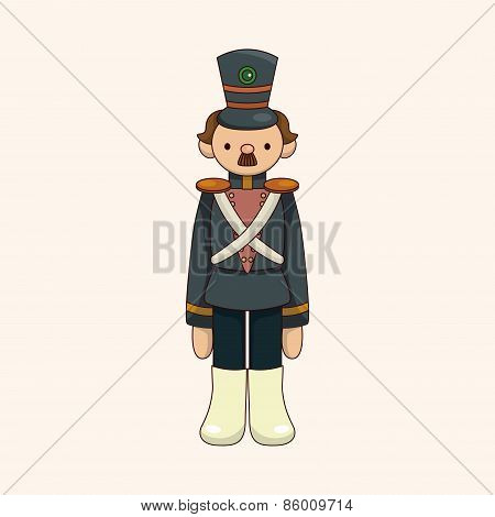 Toy Soldiers Theme Elements Vector,eps