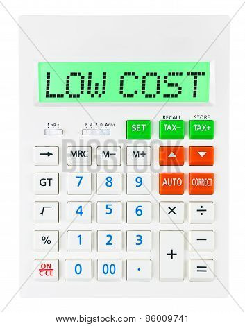 Calculator With Low Cost