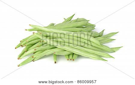 Common Bean Isolated On White Background