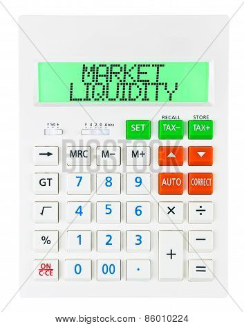 Calculator With Market Liquidity