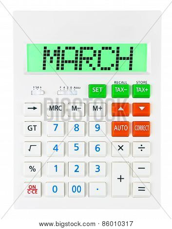 Calculator With March