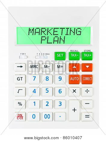 Calculator With Marketing Plan