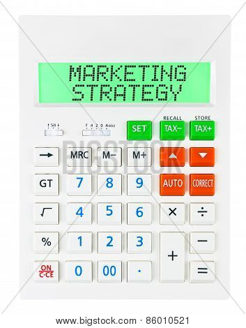 Calculator With Marketing Strategy