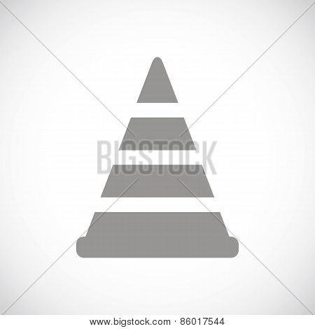 Worker sign black icon