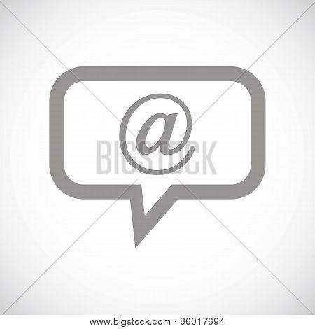 Mail black icon
